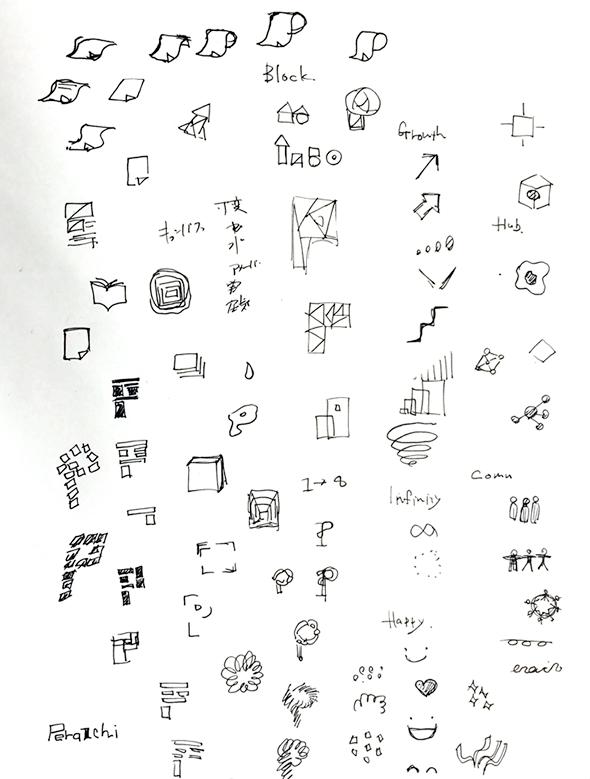 ロゴのラフ